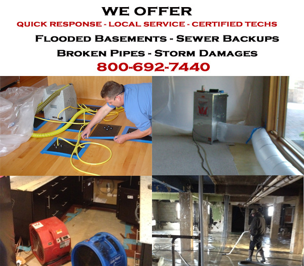 water damage restoration service